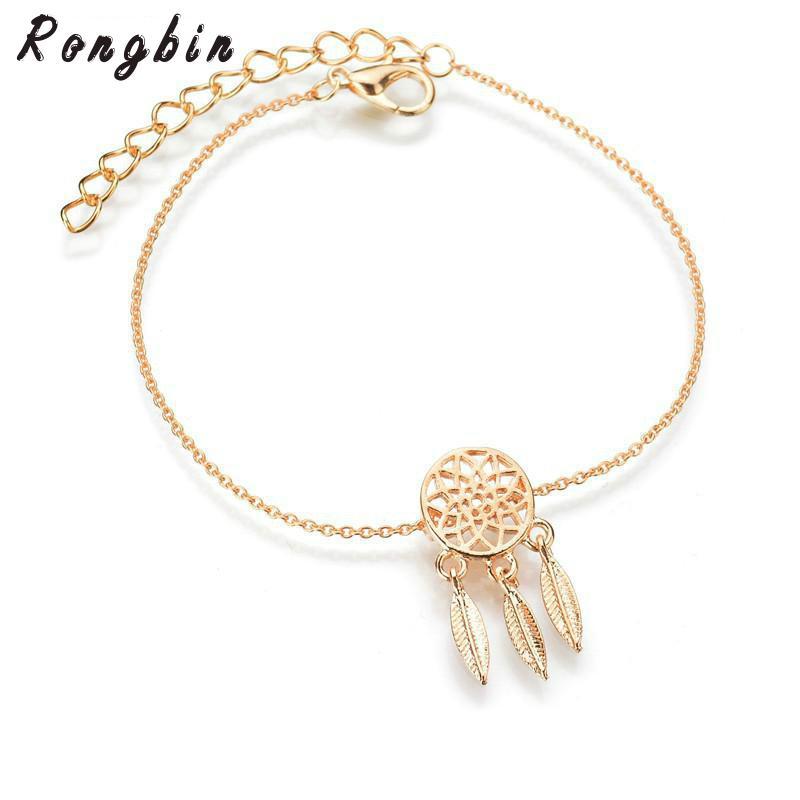 Hot Sale New Fashion Silver Color Dreamcatcher Charm Bracelets For Adorable Dream Catcher Gold Bracelet