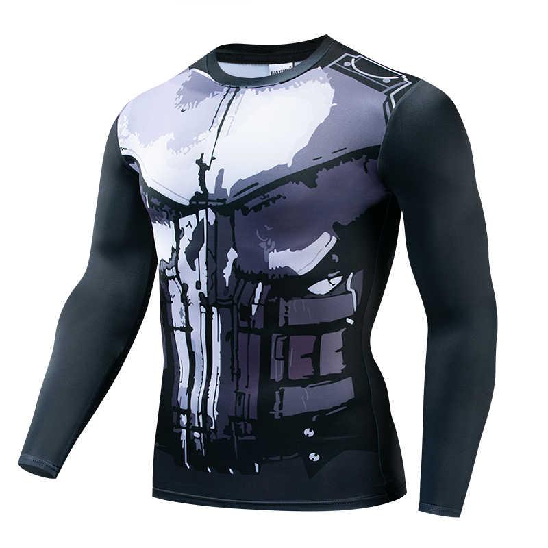 Горячая Распродажа, 3D печатная Футболка с черепом Marvel, мужская летняя модная футболка с коротким рукавом, G ym компрессионная Мужская футболка, Топы И Футболки