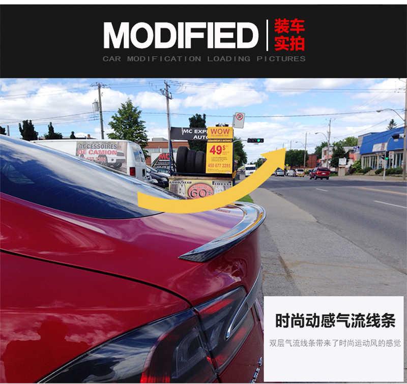テスラモデル S 4 ドアセダンのためのフィット 2012 2013 2014 2015 2016 カーボンファイバーリアスポイラーテールトランクブーツ蓋翼車のアクセサリー