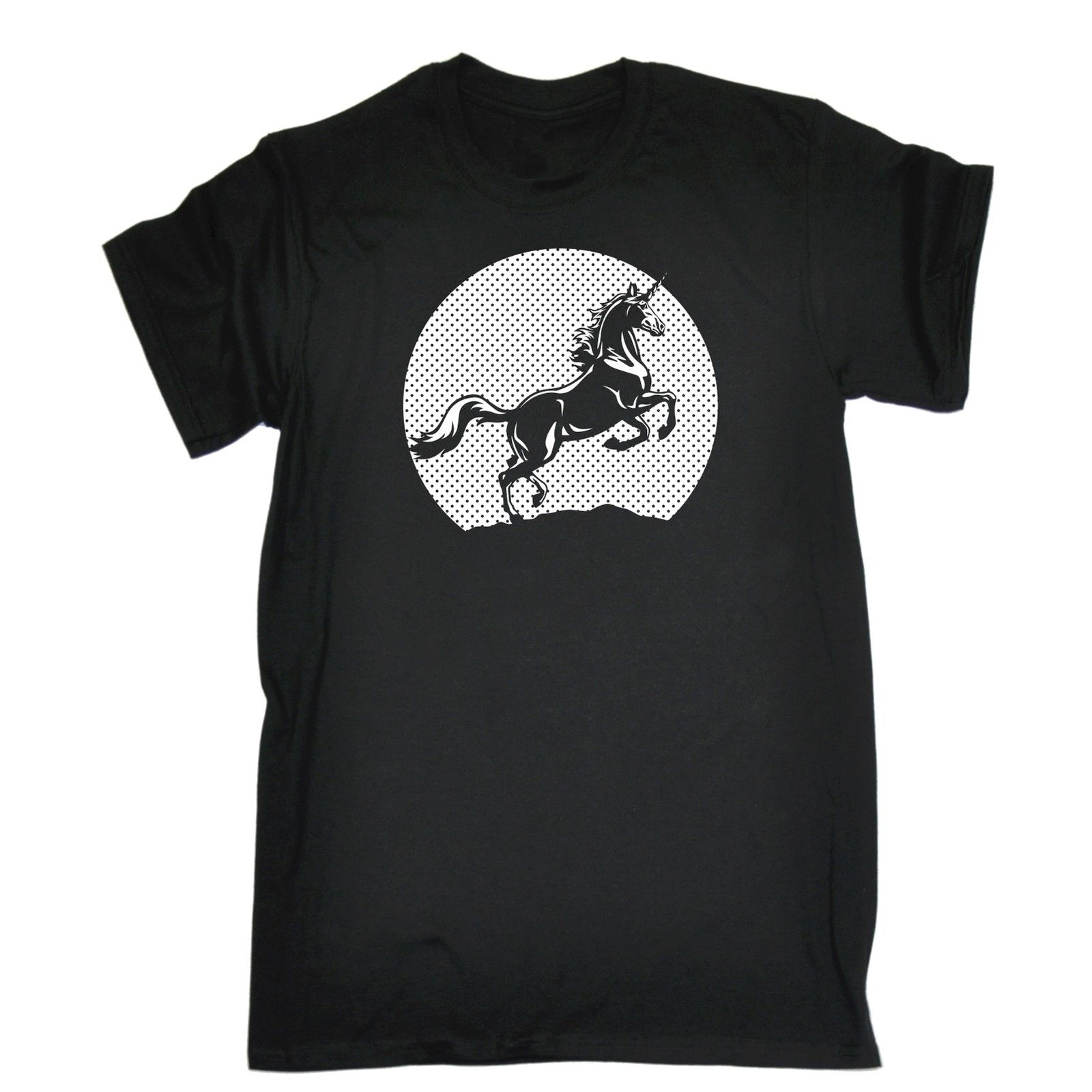 Gildan Sunset Unicorn MENS T-SHIRT Horse Magical Funny Birthday Gift Present Him New T Shirts Unisex Funny Tops Tee Anime