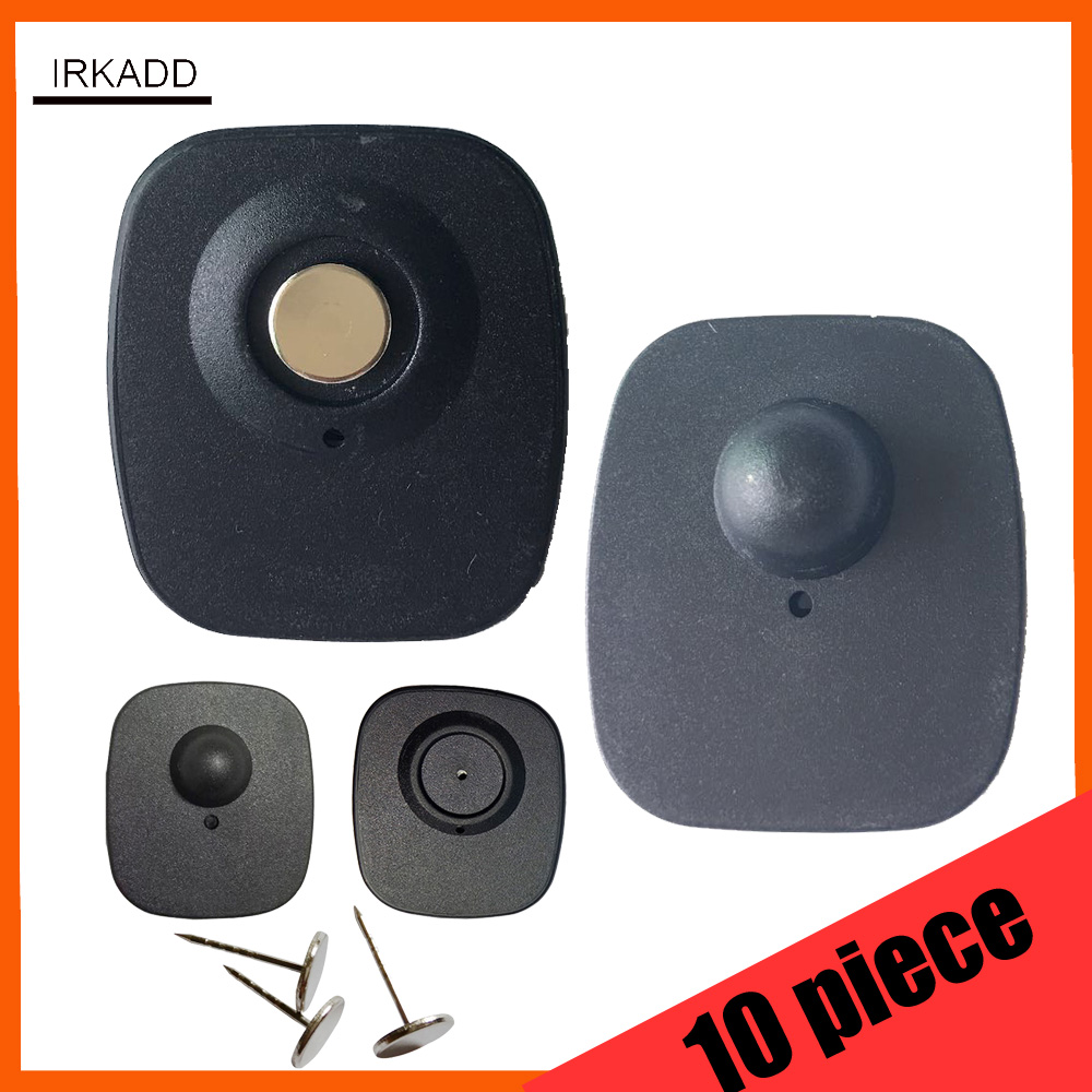 10 piece practice security tag  for eas magnetic detacher cloth alarm tag