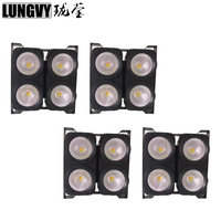 Free Shipping 4pcs Lot Blinder High Power 4x100W White Or Warm White LED COB Audience Light