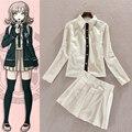 Супер DanganRonpa Chiaki Nanami равномерное белая юбка аниме косплей костюмы Customited