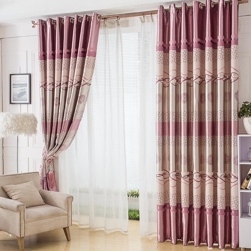 For Living Dining Room Bedroom Curtains Double Full Shield Nest Printing Garden Curtain BlindsChina