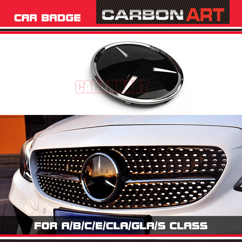 Universal Grill For Mercedes Badge Logo Mirror Emblem Coupe Sedan A B C CLA GLA E E-Coupe S Class SUV GLE GLC GLS Racing Grille kitavt75417unv10200 value kit advantus id badge holder chain avt75417 and universal small binder clips unv10200