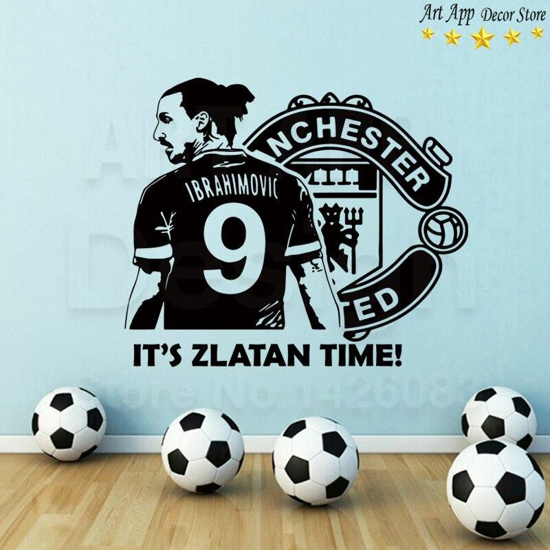 Casa decor Arte nuevo Diseño de buena calidad Zlatan Ibrahimovic fútbol Vinyl Wa