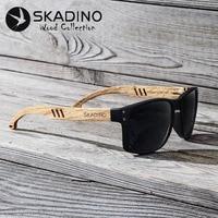 SKADINO Beech Wood Men Sunglasses Polarized Wooden Sun Glasses For Women Blue Green Lens Handmade Fashion