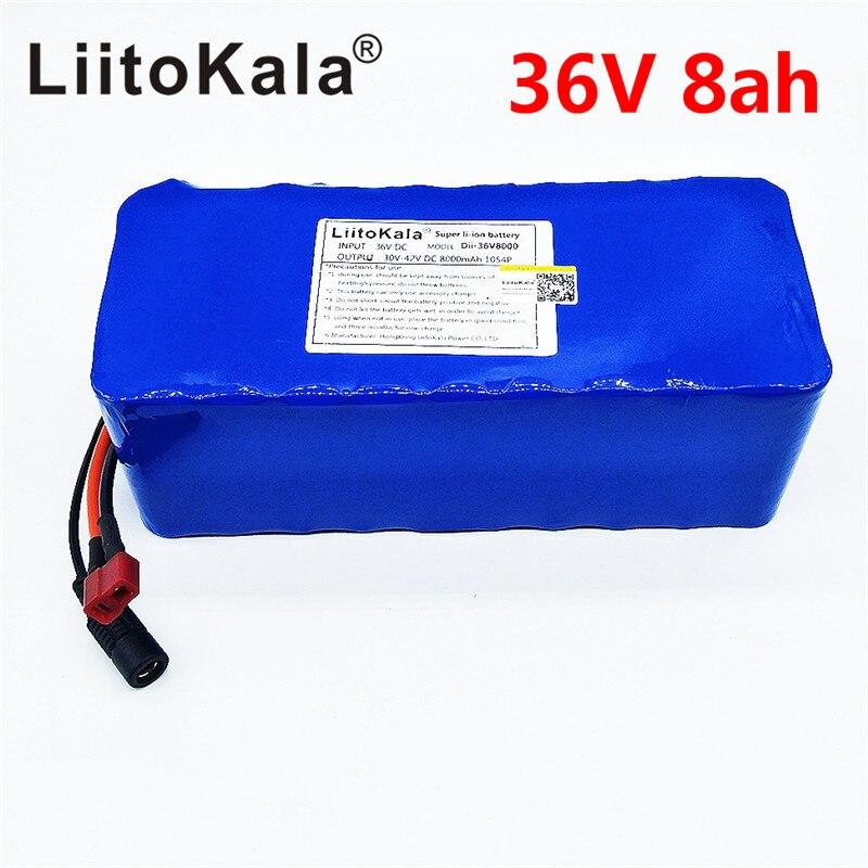 LiitoKala 36 V 6ah 8ah 10 500 W 18650 batterie au lithium 36 V 8AH Électrique vélo batterie avec PVC cas pour vélo électrique