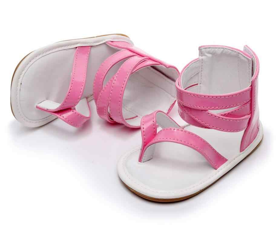 1ec9fe4f5 Anti-slip Hard Sole Baby Roman Sandals girls boys Summer baby Crib Shoes T  style