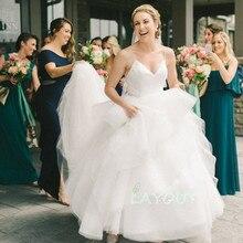 LAYOUT NICEB SHJ844 Backless Sexy Boho V-Neck Wedding Dress