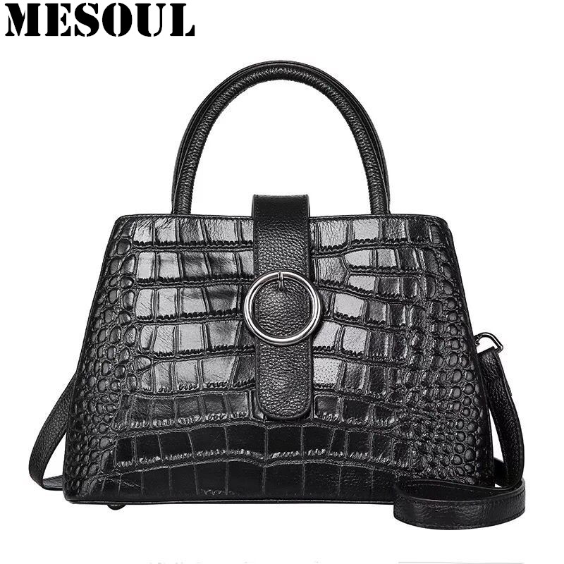 New Style Crocodile Pattern Handbags Women Bags Purses Tote Fashion Genuine Leather Hand Bag Woman Shoulder Crossbody Bag Brand 2018 yuanyu 2016 new women crocodile bag women clutches leather bag female crocodile grain long hand bag