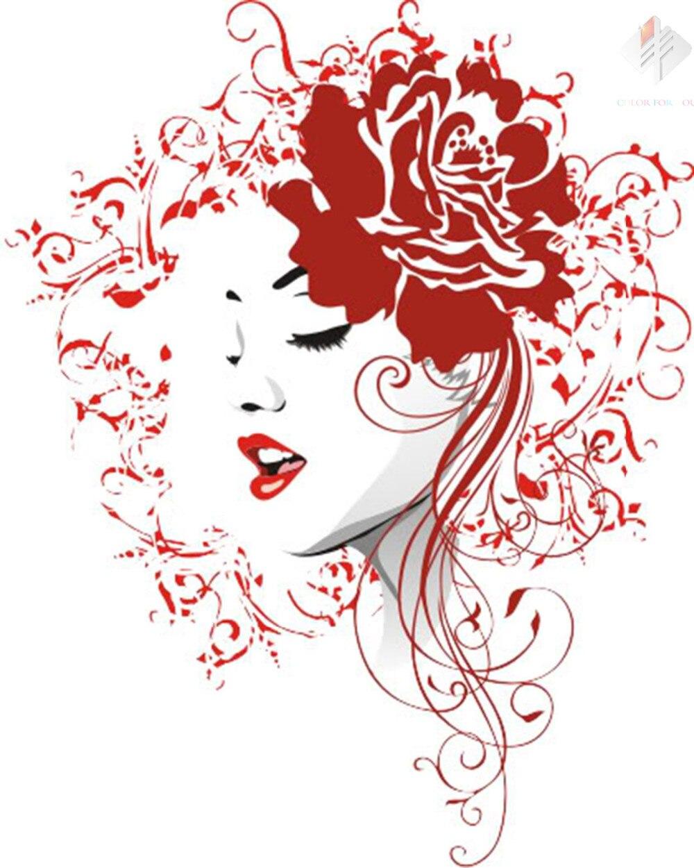 Penuh Bor Berlian Bordir Indah Gadis Berlian Lukisan Cross Stitch