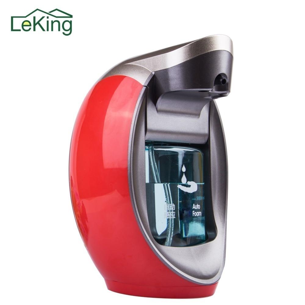 LeKing Lavaggio delle Mani Automatico Dispenser di Sapone Sensore SD-480 Per Cucina Bagno shampoo Detergente Dispenser di Sapone a parete