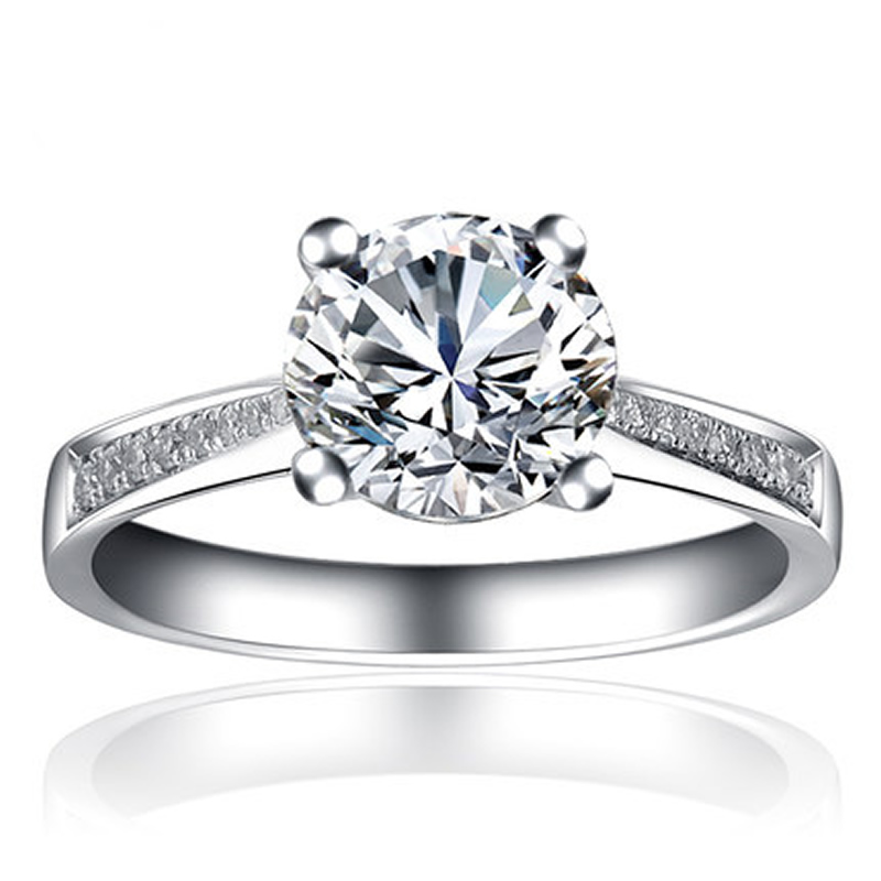 ANI 18K White Gold (AU750) Wedding Ring 0.5 CT Certified I/SI Round Cut Natural Diamond 4 Claws Band Fashion Engagement Jewelry ani 18k white gold au750 wedding ring 0 50 ct certified i si natural solitaire round cut diamond jewelry twisted bridal rings