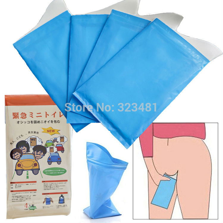 Japanese 4pcs Portable Travel Urine Bag Emergency mobile mini toilet for  children female jam camping Car