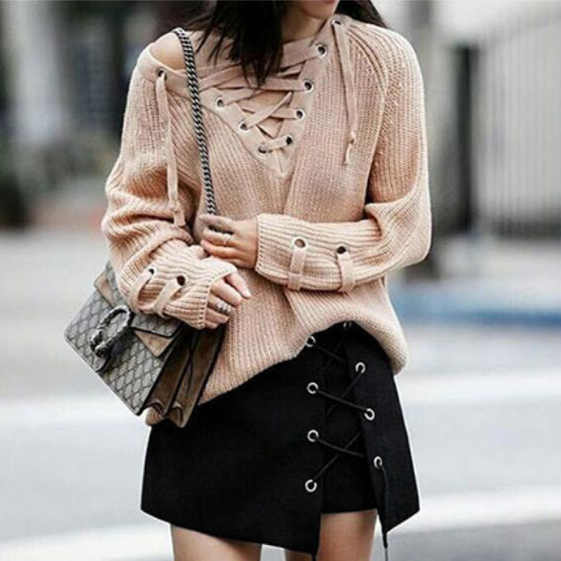 HTB1O7PEOFXXXXaxXXXXq6xXFXXXz - Women Black Mini Skirts Lace up PTC 39