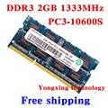 Пожизненная гарантия для Ramaxel DDR3 2 ГБ 1333 мГц PC3-10600S DDR 3 2 г портативный ноутбук памяти первоначально 204PIN SODIMM