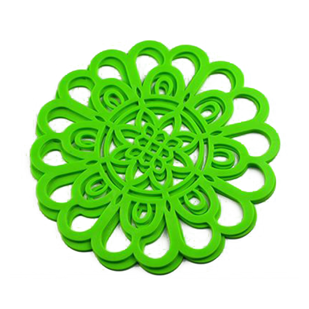 2 Pcs Flower Shape Trivet With High And Low Temperature Resistance For Kitchen Table Mats