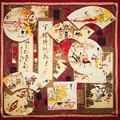 100% Silk Scarf Women Scarf  Chinese Painting Hijab Scarf Silk Big Bandana 2017 Top Middle Square Silk Scarf Hot Gift for Lady