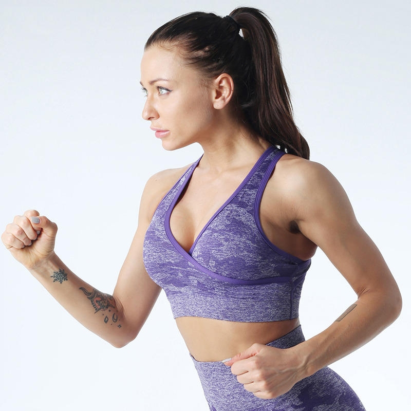 sports bra Sports top fitness clothing gym wear Best for Fitness woman seamless Running