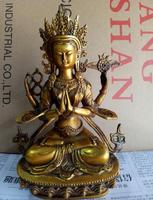 The latest collection of Chinese sculpture brass Avalokitesvara Bodhisattva Sakyamuni Buddhist large size ornaments