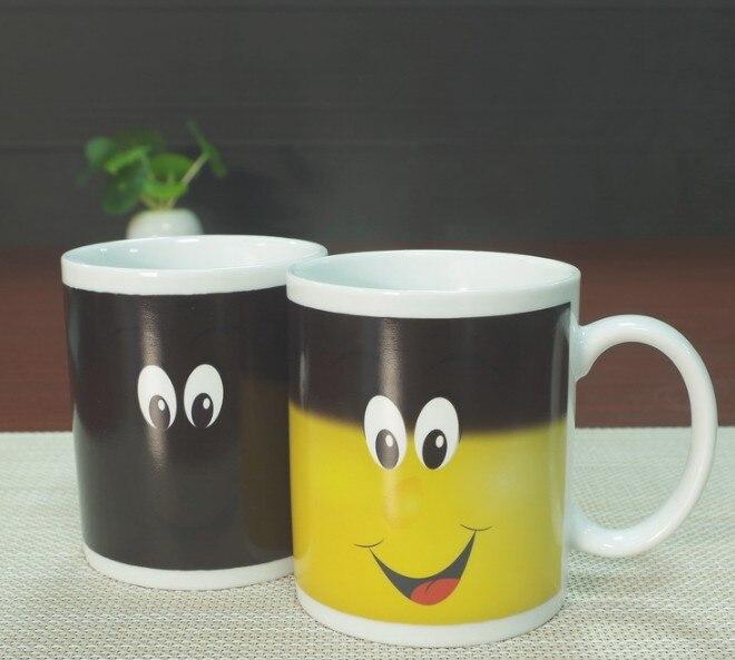 Nuovo Arriva Sorriso di Rilevamento della Temperatura di Colore Magica Cambiante della tazza di Caffè del Chameleon Tazza Tazza di Latte Tazza di Tè Regali Della Novità 330 ml