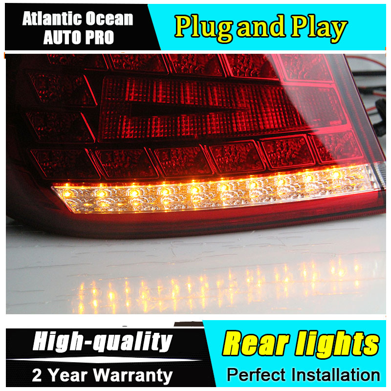 A&T Car Styling for Hyundai Elantra Taillights Benz Design New Elantra MD Tail Lamp Rear Lamp DRL+Brake+Park+Signal led lights ветровики korea hyundai elantra 2013 avante md 2013