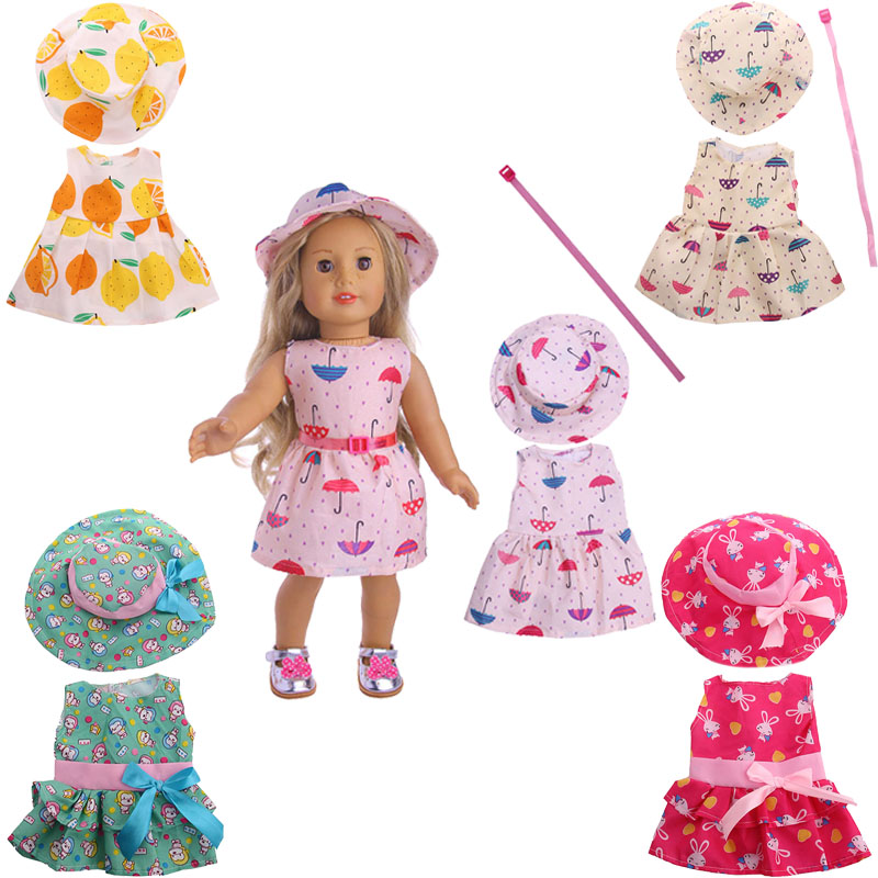 Image 3 - Cute Pattern Casual Raincoat 3Pcs=Hat+Coat+Pants Fit 18 Inch American&43 CM Baby Doll Clothes Accessories,Girl's Toys,Generation-in Dolls Accessories from Toys & Hobbies