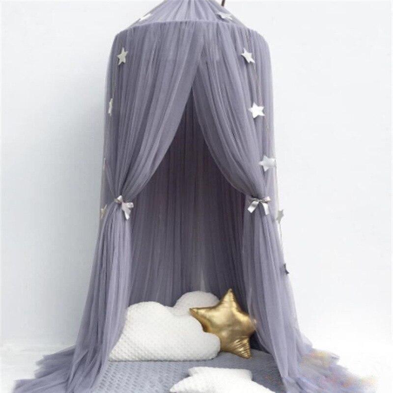6 farben Hängen Kinder Baby Bettwäsche Dome Bett Baldachin Baumwolle Moskito Net Bettdecke Vorhang Für Baby Kinder Lesen Spielen Hause decor