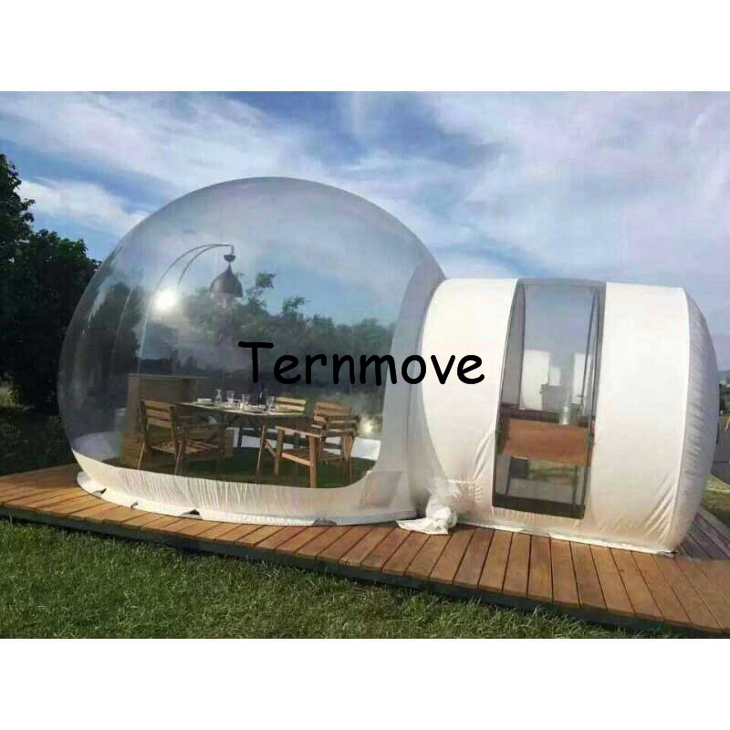 clear Inflatable Bubble Camping Tent,Outdoor inflatable lawn tents,commercial gazebo temporary warehouse tent,festival tent free shipping 5x2 5 m inflatable spider tent in white with four legs inflatable gazebo event tent toy tent for sale lawn tent