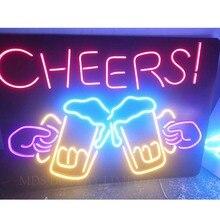 Подгонянный Крытый открытый светодиодный неоновый светильник знак для бара ресторана магазина украшения стены