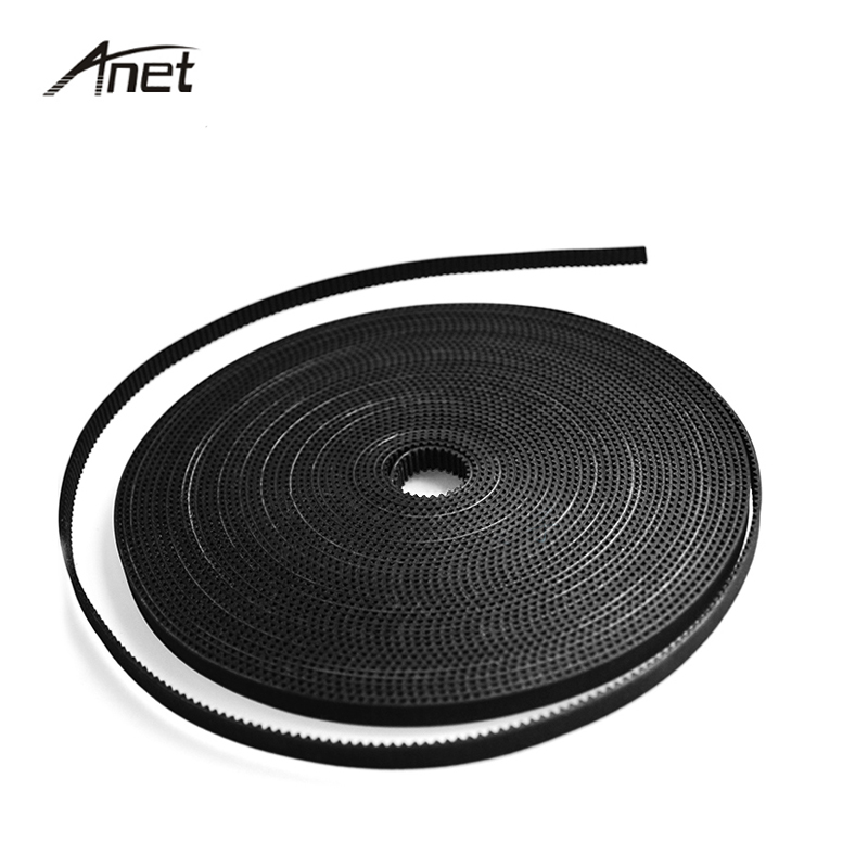 Anet Parts 100 meter 1.7m 6mm Width GT2 Timing Belt Fiber Reinforced Rubber Timing Belt For Reprap Prusa i3 A8 A6 3D Printer dc24v cooling extruder 5015 air blower 40 10fan for anet a6 a8 circuit board heat reprap mendel prusa i3 3d printer parts