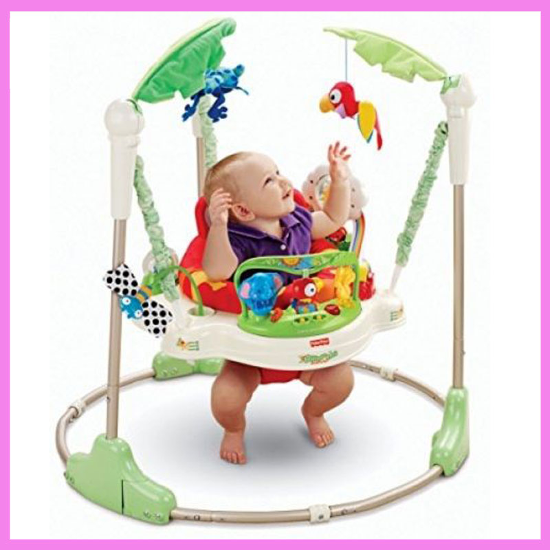 Multifunctional Electric Baby Jumping Walker Cradle Rainforest Baby Swing Body-building Rocking Chair Toddler Swing 3 M~2 Y 2017 new babyruler portable baby cradle newborn light music rocking chair kid game swing