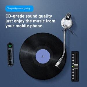 Image 5 - Baseus Adaptador Bluetooth 5.0 Sem Fio Receptor de Áudio 3.5 milímetros Aux Carro para Auto Mãos Livres Bluetooth Altifalante Do Kit para Carro Fone De Ouvido