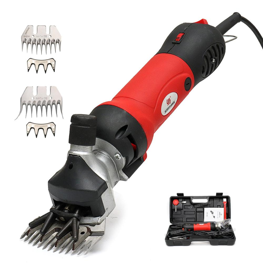 220V 690W Flexible Shaft Electric Sheep Goat Shearing Machine Clipper Shears Cutter Wool Scissor Straight Curved Tooth Blade