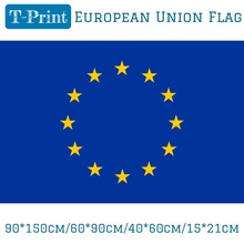 Free shipping 90*150cm/60*90cm/40*60cm/15*21cm 3x5FT European Union EU Flag