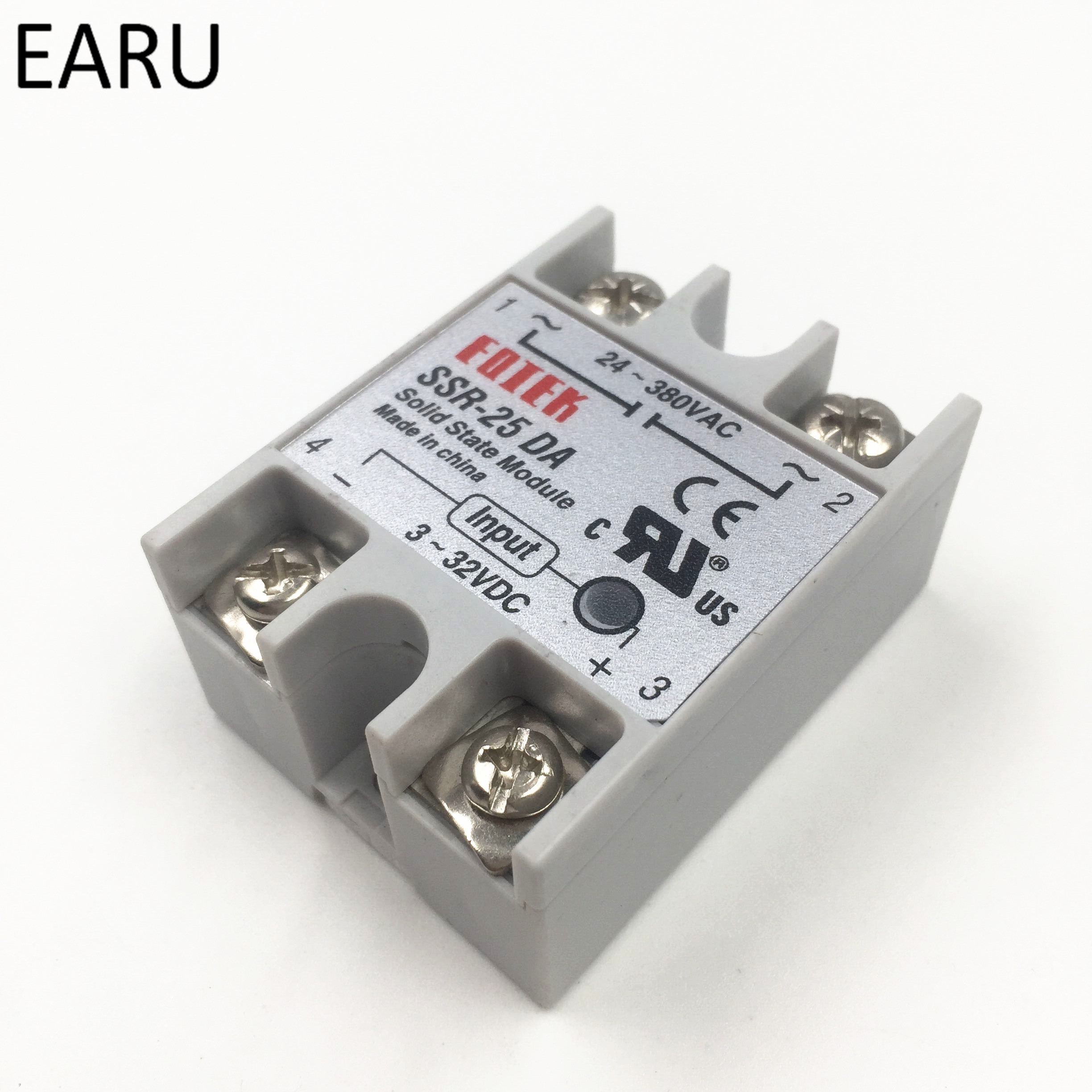 Solid State Relay Module SSR-10DA SSR-25DA SSR-40DA 10A 25A 40A DC 3-32V TO 24-380V AC SSR 10DA 25DA 40DA Voltage Transformer ssr 80aa ac output solid state relays 90 280v ac to 24 480v ac single phase solid relay module rele 12v 80a ks1 80aa
