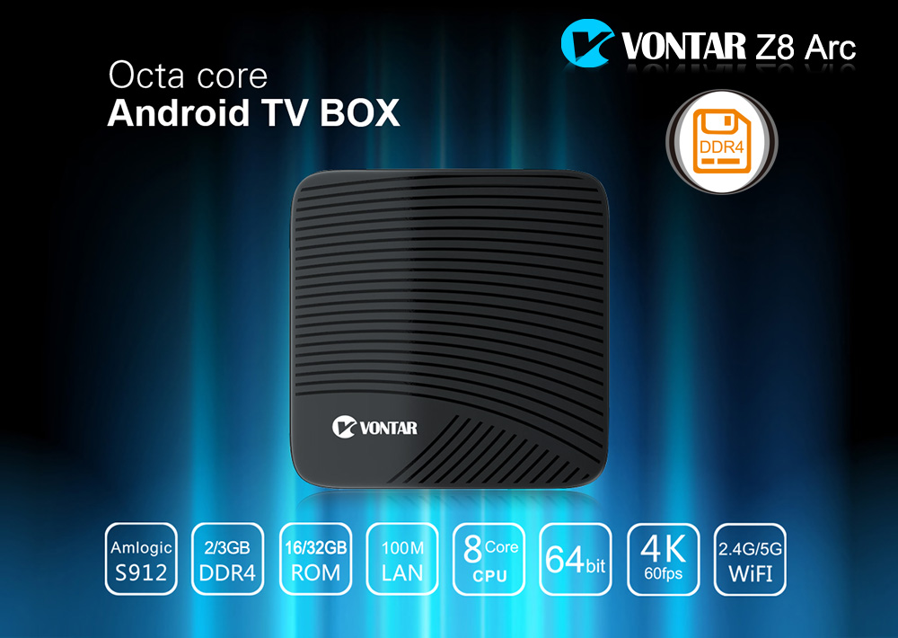 VONTAR Z8 Arc DDR4 3G/32G 2G/16G Android 7.1 Nougat TV Box VONTAR Z8 Arc DDR4 3G/32G 2G/16G Android 7.1 Nougat TV Box HTB1O7RARpXXXXbXXpXXq6xXFXXXD