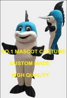 Blau marlin fisch maskottchen kostüm erwachsene marlin thema anime cosply kostüme sport karneval mascotte dress anzug kits 2052