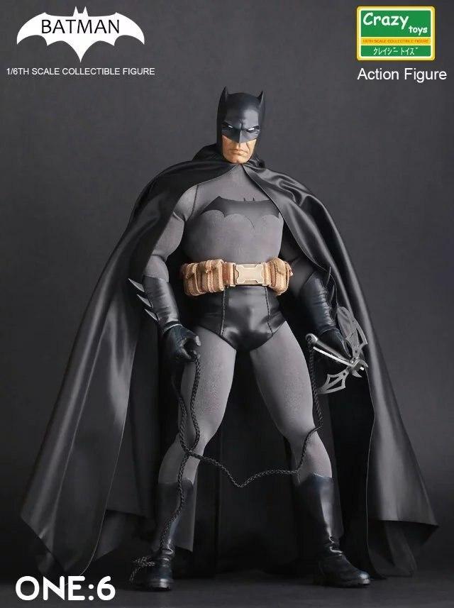 Brinquedos loucos batman pvc figura de ação collectible modelo brinquedo 12