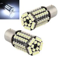 10x) 2*4,5W Attacco 1156/BA15S Lampadine 80 LED 3528 SMD Bianco DC 12V da Auto