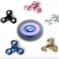 Finger Spinner Fidget Spinner LED Light ABS EDC Stress Wheel Hand Spinner For Kids Autism ADHD