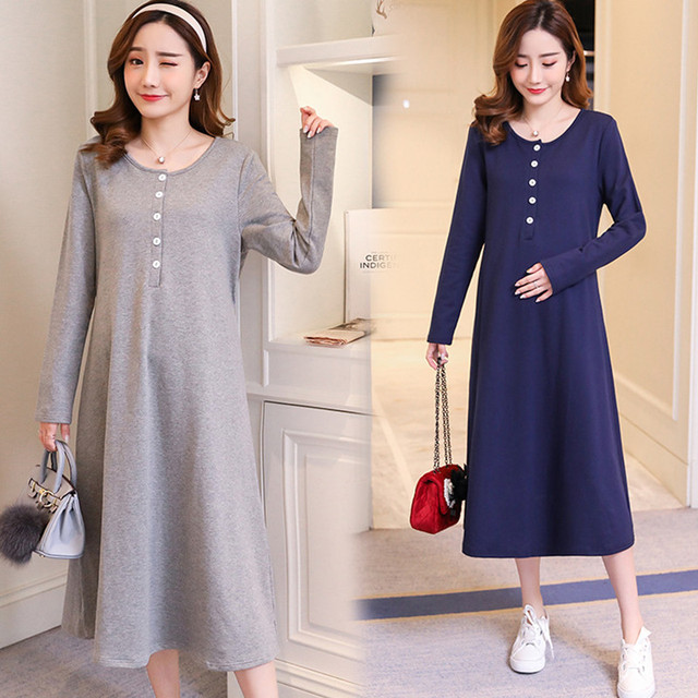 2018 Autumn Knitted Maternity Sweaters Dress A Line Pullovers Clothes For Pregnant Women Winter Pregnancy Bottoming Shirts