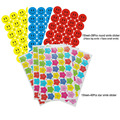 195Pcs/5sheet round smile + 200pcs/5sheet star smile sticker children reward teacher praise class sticky paper lable sticker