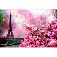 Diamond Mosaic Landscape Eiffel Tower DIY 5d Diamond Flowers Pictures Pictures By Numbers For Needlework Mosaic
