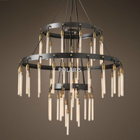 Vintage Chandelier Lighting Classic Edison T30 Candle Chandeliers Hanging Light for Home Hotel and Restaurant Decoration