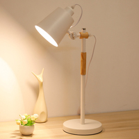 Eye protect study table lamp office bedroom bedside light art personality Nordic concise adjustable lamp