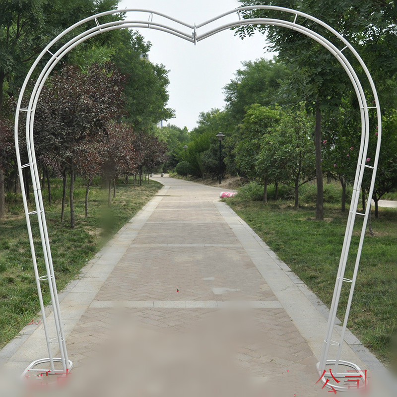 Heart Bridal Arch Frame Background Decoration Cherry Blossom Arch Flower Stand Door Wedding Party Decoration Props