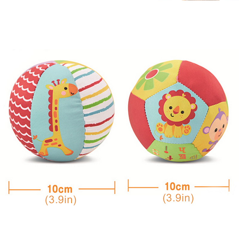 Animal Ball With Sound Rattle Soft Toy
