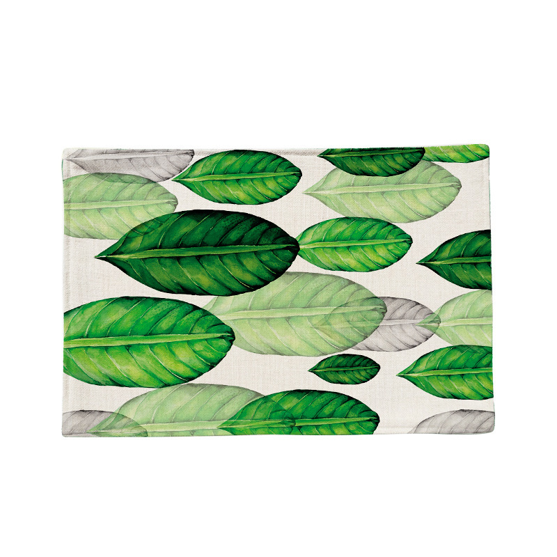 Zeegle листьев подставки для белья Кухня обеденный колодки ткань Coaster Украшение стола коврик для Кухня скольжению колодки